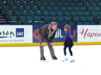 Катание на коньках в Ледовом дворце