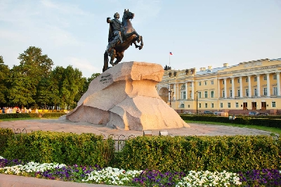 Bronze Horseman and Senate Square